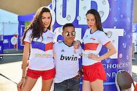Foxborough, MA - Saturday June 18, 2016: Bud, Sponsor, Fans prior to a Copa America Centenario quarterfinal match between Argentina (ARG) and Venezuela (VEN)  at Gillette Stadium.