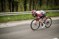 'Tucked in' Tim Wellens (BEL/Lotto-Soudal)<br /> <br /> 59th De Brabantse Pijl - La Flèche Brabançonne 2019 (1.HC)<br /> One day race from Leuven to Overijse (BEL/196km)<br /> <br /> ©kramon