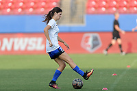 Frisco, TX - Sunday September 03, 2017: Madeline Bauer warming up during a regular season National Women's Soccer League (NWSL) match between the Houston Dash and the Seattle Reign FC at Toyota Stadium in Frisco Texas. The match was moved to Toyota Stadium in Frisco Texas due to Hurricane Harvey hitting Houston Texas.