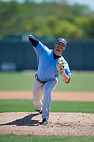 Tampa Bay Rays pitcher Tyler Day (24) during a Minor League Spring Training game against the Minnesota Twins on March 17, 2018 at CenturyLink Sports Complex in Fort Myers, Florida.  (Mike Janes/Four Seam Images)