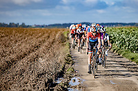Christine Majerus (LUX/Boels-Dolmans) leading the front group over Plugstreet 1<br /> <br /> <br /> 9th Gent-Wevelgem in Flanders Fields 2020<br /> Elite Womens Race (1.WWT)<br /> <br /> One Day Race from Ypres (Ieper) to Wevelgem 141km<br /> <br /> ©kramon