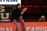 27-03-2021: Basketbal: Donar Groningen v Den Helder Suns: Groningen Den Helder coach  Peter van Noord