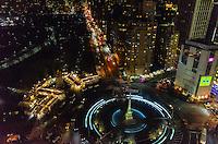 America,New York,  Manhattan, night landscape from the Mandarin rooftop