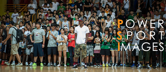NBA's player and Red Bull athlete Rajon Rondo attends the Hong Kong's Red Bull King of the Rock at the Southorn Indoor Stadium on September 1, 2012 in Hong Kong. Photo by Victor Fraile / The Power of Sport Images