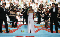 JUNE 9, 2006: Munich, Germany: Singer Toni Braxton entertains the crowd during the opening ceremonies for the World Cup Finals in Munich, Germany.