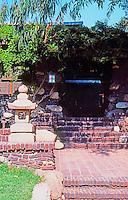 Greene & Greene: Duncan-Irwin House, 240 N. Grand, Pasadena. Detail.  Photo '84.