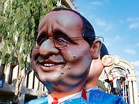 Nice le 19 Fevrier 2107 Place Massena unique sotie du Corso Carnavalesque Parada Nissarda de jour Francois Holland