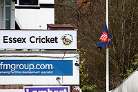 The Essex flag is flown at half-mast following the news of the passing of Prince Philip, Duke of Edinburgh during Essex CCC vs Worcestershire CCC, LV Insurance County Championship Group 1 Cricket at The Cloudfm County Ground on 9th April 2021