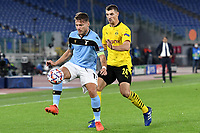Ciro Immobile of SS Lazio and Thomas Meunier of Borussia Dortmund during the Champions League Group Stage F day 1 football match between SS Lazio and Borussia Dortmund at Olimpic stadium in Rome (Italy), October, 20th, 2020. Photo Andrea Staccioli / Insidefoto