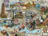 ,LANDSCAPES, LANDSCHAFTEN, PAISAJES, LornaFinchley, paintings+++++,USHCFIN0134,#L#, EVERYDAY ,vintage,stamps,puzzle,puzzles