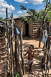 "Outside a Wayuu indigenous family home in a ""rancheria"", or traditional rural settlement, in La Guajira, Colombia."