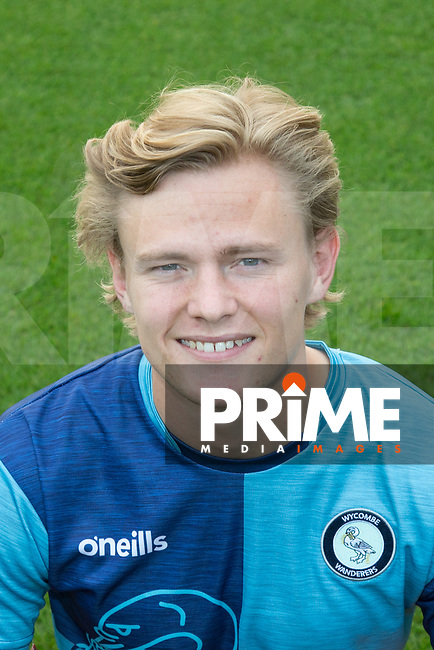 Alex Samuel of Wycombe Wanderers headshot during the Carabao Cup 2nd round match between Wycombe Wanderers and Forest Green Rovers at Adams Park, High Wycombe, England on 28 August 2018. Photo by Andy Rowland.
