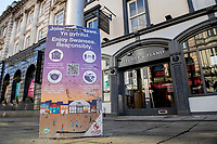 2021 02 27 Covid19 - Swansea City Centre, Swansea, Wales, UK