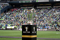 SEATTLE, WA - NOVEMBER 10: The Philip F. Anschutz Trophy during a game between Toronto FC and Seattle Sounders FC at CenturyLink Field on November 10, 2019 in Seattle, Washington.