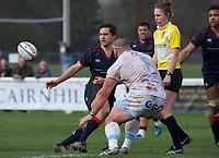 Match action during the Greene King IPA Championship match between London Scottish Football Club and Rotherham Titans at Richmond Athletic Ground, Richmond, United Kingdom on 7 April 2018. Photo by Alan  Stanford/PRiME Media Images.