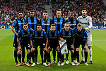 Club Brugge's players during UEFA Champions League match between Atletico de Madrid and Club Brugge at Wanda Metropolitano Stadium in Madrid, Spain. October 03, 2018. (ALTERPHOTOS/A. Perez Meca)