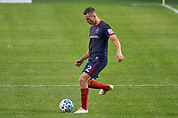 CHICAGO, UNITED STATES - AUGUST 25: Boris Sekulic #2 of Chicago Fire dribbles the ball during a game between FC Cincinnati and Chicago Fire at Soldier Field on August 25, 2020 in Chicago, Illinois.