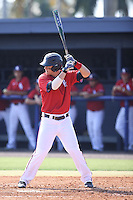 Brandon Sanger (23) of the Florida Atlantic Owls at bat against the Middle Tennessee State Blue Raiders on March 21, 2015 at FAU Stadium in Boca Raton, Florida.  The Owls defeated the Middle Tennessee Blue Raiders 4-2.  (Stacy Jo Grant/Four Seam Images)