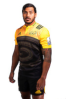 Pita Ahki. Hurricanes Super Rugby official headshots at Rugby League Park, Wellington, New Zealand on Wednesday, 6 January 2016. Photo: Dave Lintott / lintottphoto.co.nz