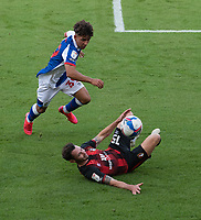 Blackburn Rovers' Tyrhys Dolan (left) battles with Bournemouth's Adam Smith (right) <br /> <br /> hotographer David Horton/CameraSport <br /> <br /> The EFL Sky Bet Championship - Bournemouth v Blackburn Rovers - Saturday September 12th 2020 - Vitality Stadium - Bournemouth<br /> <br /> World Copyright © 2020 CameraSport. All rights reserved. 43 Linden Ave. Countesthorpe. Leicester. England. LE8 5PG - Tel: +44 (0) 116 277 4147 - admin@camerasport.com - www.camerasport.com