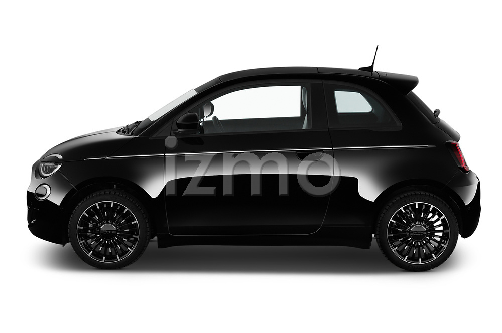 Car Driver side profile view of a 2021 Fiat 500 Icon 3 Door Hatchback Side View