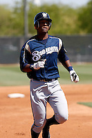 Brent Brewer  - Milwaukee Brewers - 2009 spring training.Photo by:  Bill Mitchell/Four Seam Images