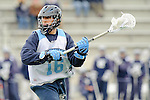Baltimore- February 4: Mid-Fielder Lee Coppersmith of Hopkins  during the exhibition between Johns Hopkins and Penn State at Homewood Field on February 04, 2012 in Baltimore, MD.