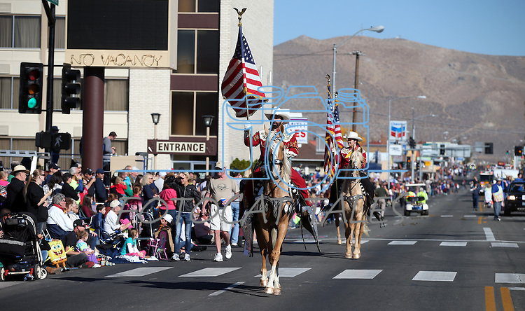 The Merced County Sheriff's Posse rides in the 75th annual Nevada Day parade in Carson City, Nev., on Saturday, Oct. 26, 2013.<br /> Photo by Cathleen Allison