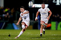 Saturday 7th December 2019 | Ulster Rugby vs Harlequins<br /> <br /> John Cooney converts this match winning penalty goal in the 77th minute during the Heineken Champions Cup Round 3 clash in Pool 3, between Ulster Rugby and Harlequins at Kingspan Stadium, Ravenhill Park, Belfast, Northern Ireland. Photo by John Dickson / DICKSONDIGITAL