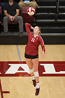 STANFORD, CA - NOVEMBER 17: Stanford, CA - November 17, 2019: Kate Formico at Maples Pavilion. #4 Stanford Cardinal defeated UCLA in straight sets in a match honoring neurodiversity. during a game between UCLA and Stanford Volleyball W at Maples Pavilion on November 17, 2019 in Stanford, California.