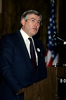 October 1992 File Photo - Montreal, Quebec - Michael Wilson, Minister of finances of Canada.