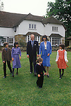 """Winston Churchill British politician with his first wife Mary """"Minnie"""" Caroline d'Erlanger and children. Broadwater House Chailey Sussex   Uk 1986"""