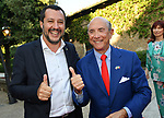 MATTEO SALVINI  CON L'AMBASCIATORE USA LEWIS EISENBERG