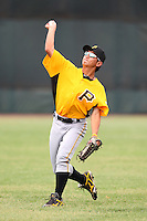 GCL Pirates outfielder Ping-Hung Chi #2 warms up before a game against the GCL Braves at Disney Wide World of Sports on June 25, 2011 in Kissimmee, Florida.  The Pirates defeated the Braves 5-4 in ten innings.  (Mike Janes/Four Seam Images)