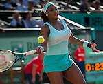 Serena Williams  loses in first round play at Roland Garros in Paris, France on May 29, 2012