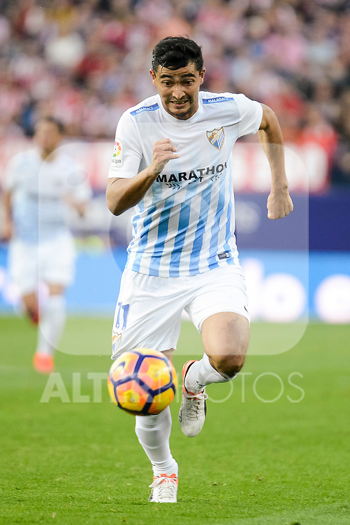 "Malaga CF Gonzalo ""Chory"" Castro during a match of La Liga Santander at Vicente Calderon Stadium in Madrid. October 29, Spain. 2016. (ALTERPHOTOS/BorjaB.Hojas)"