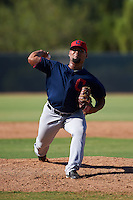 Cleveland Indians pitcher Yoiber Marquina (36) during an instructional league game against the Milwaukee Brewers on October 8, 2015 at the Maryvale Baseball Complex in Maryvale, Arizona.  (Mike Janes/Four Seam Images)
