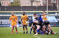 31st August 2020; Recreation Ground, Bath, Somerset, England; English Premiership Rugby, Bath versus Wasps; Ben Spencer of Bath kicks to touch
