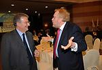 FABRIZIO CICCHITTO CON PAOLO GUZZANTI<br /> CAMPAGNA ELETTORALE DI ALFREDO ANTONIOZZI POPOLO DELLE LIBERTA' HOTEL ERGIFE ROMA 2008