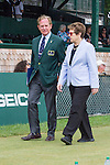 Christopher E. Clouser, Chairman, and Billie Jean King enter... the 2015 Induction Ceremony at the International Tennis Hall of Fame, Newport, RI USA.  The ceremony took place on July 18, 2015