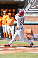 South Carolina Gamecocks left fielder Alex Destino (24) swings at a pitch during a game against the Tennessee Volunteers at Lindsey Nelson Stadium on March 18, 2017 in Knoxville, Tennessee. The Gamecocks defeated Volunteers 6-5. (Tony Farlow/Four Seam Images)