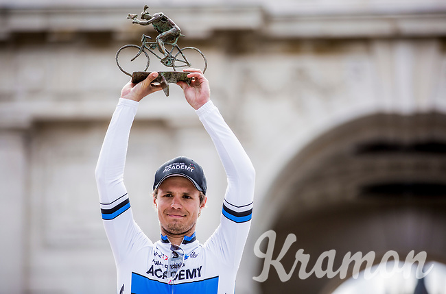 podium with Race Winner Mihkel Raïm (EST/Israël Cycling Academy).<br /> <br /> <br /> 1st Great War Remembrance Race 2018 (UCI Europe Tour Cat. 1.1) <br /> Nieuwpoort > Ieper (BE) 192.7 km
