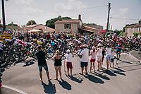 peloton drive-by<br /> <br /> Stage 2: Mouilleron-Saint-Germain > La Roche-sur-Yon (183km)<br /> <br /> Le Grand Départ 2018<br /> 105th Tour de France 2018<br /> ©kramon