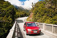 A scenic road between Haast and Wanaka - Mt. Aspiring N.P., West Coast, New Zealand