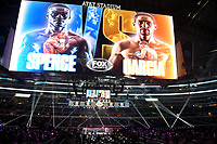 ARLINGTON, TX - DECEMBER 5: The ring area before the Errol Spence Jr. v Danny Garcia fight on Fox Sports PBC Pay-Per-View fight night at AT&T Stadium in Arlington, Texas on December 5, 2020. (Photo by Frank Micelotta/Fox Sports)