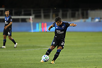 SAN JOSE, CA - OCTOBER 18: Nick Lima #24 of the San Jose Earthquakes during a game between Seattle Sounders FC and San Jose Earthquakes at Earthquakes Stadium on October 18, 2020 in San Jose, California.