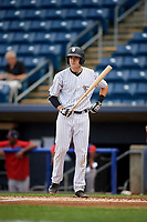 Staten Island Yankees catcher Jackson Thoreson (35) at bat during a game against the Lowell Spinners on August 22, 2018 at Richmond County Bank Ballpark in Staten Island, New York.  Staten Island defeated Lowell 10-4.  (Mike Janes/Four Seam Images)