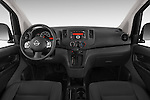 Stock photo of straight dashboard view of2014 Nissan NV 200 Cargo S 5 Door Van Dashboard