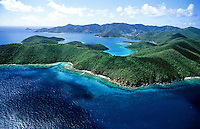Aerial view of the east end<br /> looking west<br /> St. John<br /> U.S. Virgin Islands