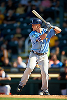 Tampa Bay Rays designated hitter Jake Bauers (70) at bat during a Spring Training game against the Pittsburgh Pirates on March 10, 2017 at LECOM Park in Bradenton, Florida.  Pittsburgh defeated New York 4-1.  (Mike Janes/Four Seam Images)